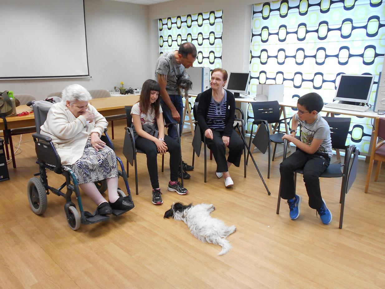«La terapia con perros mejora la autoestima de las personas mayores, pasan de ser cuidados a ser cuidadores»
